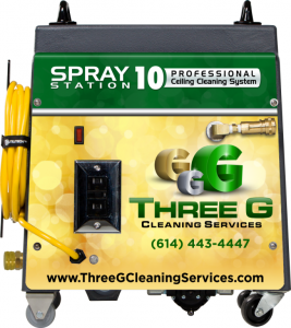 Spray Station 10 Ceiling Cleaning System Designed for Three G Cleaning Services