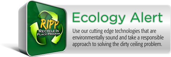 Be responsible by recycling your acoustical ceiling tiles in place and save money