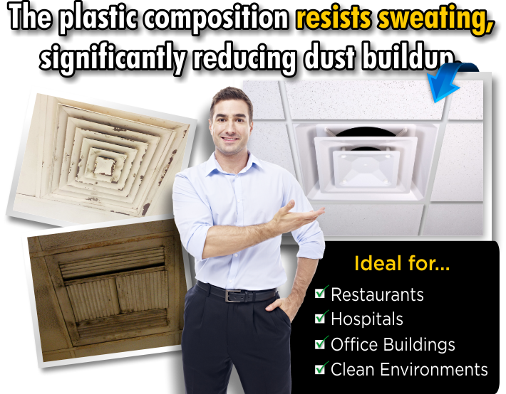 Plastic Diffusers and Vents that you can buy to replace those rusted out diffusers