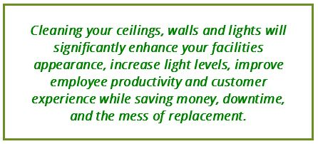 Clean your Ceilings, Walls and Lights